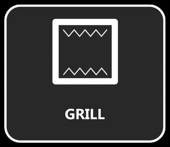 Is het symbool vergelijkbaar met haaientanden? Dan ben je aan het grillen!