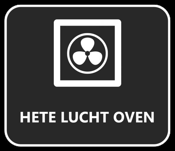 Symbool hete lucht oven
