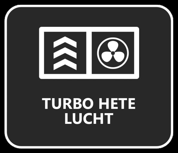 Snel en krachtig de oven verwarmen? Dat doe je met de turbo heteluchtfunctie.