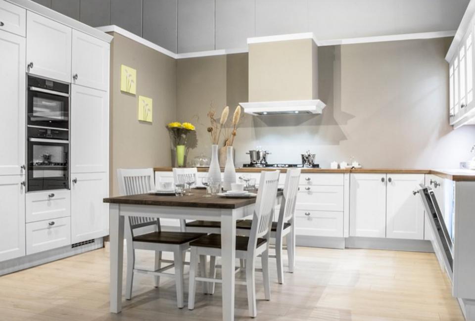 witte landelijke keuken