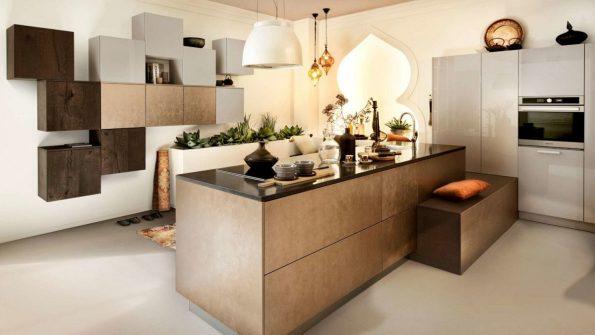 Bruine keuken