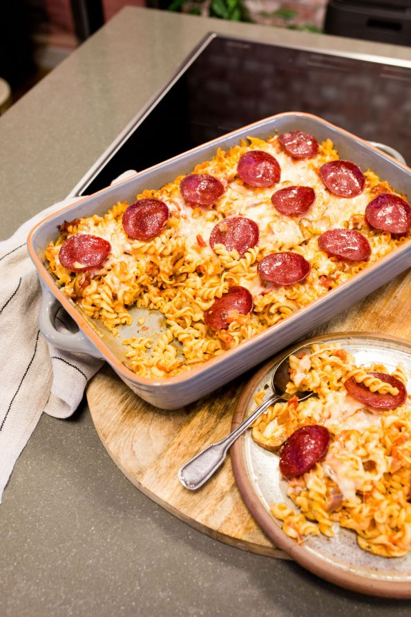 Pizza pasta schotel OMF